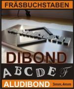 Dibond 3mm / 4mm (weiß oder farbig),