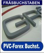 PVC-Forex-Kömacel (Freischaumplatte) Fräsbuchstaben